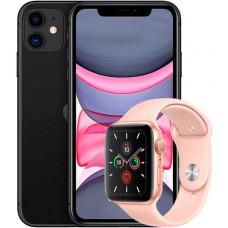 Apple iPhone 11 128Gb + Apple Watch S5 40mm Gold