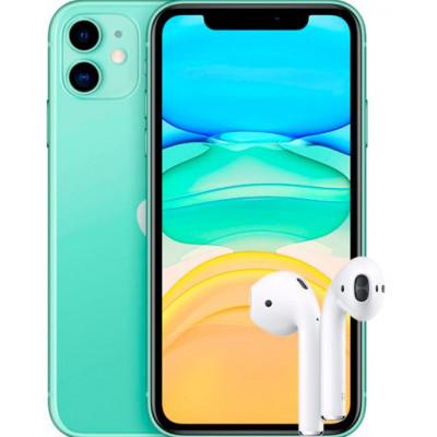Apple iPhone 11 128Gb + AirPods 2 2019 (с беспроводной зарядкой чехла)